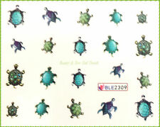 Nailsticker - Tatouages - Ongles Sticker - - Vacances Tortue 2309