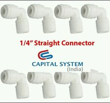 "8 Pcs 1/4"" thread  Elbow Connectors  For Kent Inline Filter RO/UV Pipe/Tube[031]"