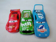 Mattel Disney Pixar Car McQueen/Chick Hicks/King 3pcs Set Spielzeugauto Loose