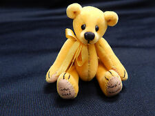 "World Of Miniature Bears Dollhouse Miniature 2.5"" Plush Bear #386 Sun Gold"