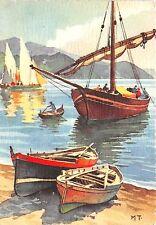 BR25214 Paint Peintures ship bateaux France