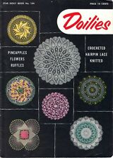 Doily Patterns Crochet KNIT HAIRPIN LACE Pineapples FLOWERS Ruffles PANSY