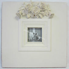 20cm New French Provincial Country Wooden Photo Frame with Ornate Carved Roses