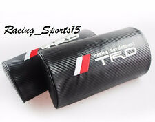 TRD Carbon Fiber Leather Vehicles Auto Seat Neck Cushion Pillow Headrests X2