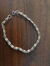 "14K Yellow Gold Fancy Chain Link Bracelet 8"" Long"