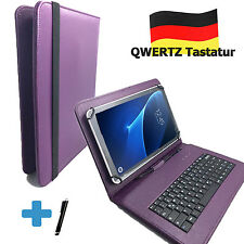 Deutsche Tastatur Odys Element 10 Plus 3G  10.1 zoll Tablet Tasche Qwertz lila