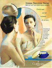 PUBLICITE ADVERTISING 074  1996  GUERLAIN cosmétiques soins de la nuit