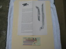 1/200 scale airliner decal BAe146-200 or MD-80 American Airlines