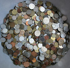 HUGE LOT OF UNSEARCHED COINS 1.0 KG (2.2 LBS) - FREE SHIPPING