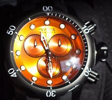 USED INVICTA MEN'S  RESERVE COLLECTION MODEL5735 BLACK WITH ORANGE FACE WATCH