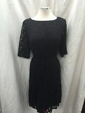 "Adrianna Papell Dress/SIZE 18W/RETAIL$160/LINED/LACE DRESS/BLACK/LENGTH42""/PLUS"