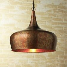 STUNNING VINTAGE STYLE OXIDIZED COPPER FINISH METAL PENDANT CHANDELIER