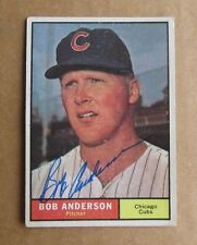 1961 TOPPS BASEBALL BOB ANDERSON #283 SIGNED AUTOGRAPH CARD CHICAGO CUBS D.2015