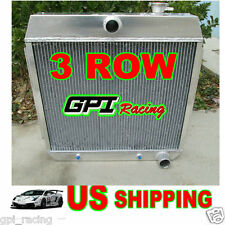 1955 1956 1957 FORD CHEVY chev V8 Style ENGINE pickup truck Aluminum Radiator