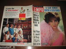 RIVISTA TEMPO 1965/31=GINA LOLLOBRIGIDA=CLAN KENNEDY=SOMMERGIBILE SQUALO TIGRE=