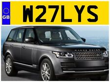 W27 LYS WILLY WILLYS WILL WILLS WILLIAMS WALLY BILLY PRIVATE NUMBER PLATE WILKO