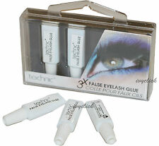 Technic 3 X False Eyelash Pegamento Adhesivo falso Ojo Pestañas Transparente fuerte Tubos Pack