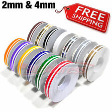 "12mm 0.5"" PinStripe PinStriping Pin Stripe Decals TAPE STICKERS Cars Motorcycles"