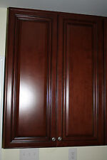 Solid Maple Wood Kitchen Cabinet 42(H) x 30(W) Jsi Georgetown Cherry Stained