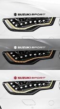 2 x SUZUKI SPORT + LOGO - CAR DECAL STICKER ADHESIVE - SWIFT - 300mm long