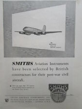 10/46 PUB SMITHS AIRCRAFT INSTRUMENTS HANDLEY PAGE HERMES AVION ORIGINAL AD