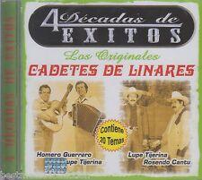 Los Originales Cadetes De Linares CD NEW 4 Decadas De Exitos ALBUM Nuevo