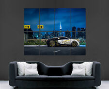 BUGATTI VEYRON CAR POSTER  RACING WALL ART PRINT IMAGE HUGE GIANT