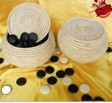 Go Game Stones And Grass Knitted Holder Bowls Set