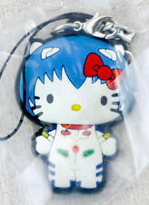Evangelion Rei Ayanami Hello Kitty Figure Rubber Strap Sanrio JAPAN ANIME MANGA
