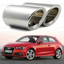 2Pcs Silver Exhaust Muffler Tail Pipe Tip Tailpipe for Audi A3 2011-2014 12 13