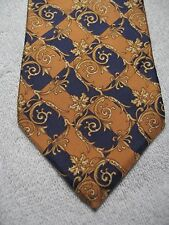 """BOLGHERI GOLD AND NAVY BLUE CHECKERED MENS TIE 3.75 x 57.5"""""""