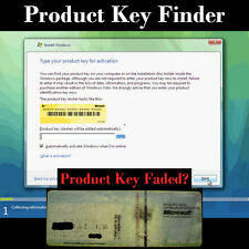 Professional License Code, Key Finder, Window XP, Vista, 7, 8, 8.1 & 10 CD USB