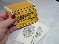 Vtg souvenir playing cards. Fort Mackinac Island