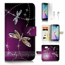 Samsung Galaxy ( S7 Edge ) Flip Wallet Case Cover P1844 Dragonfly