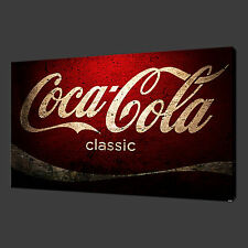 COCA COLA CANVAS Wall Art STAMPA FOTO 30 X 20 Pollici Wall Art