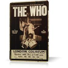 Metal Tin Sign THE WHO LONDON COLISEUM Poster Concert Decor Bar CLASSIC ROCK