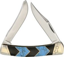 """ROUGH RIDER """"TURQUOISE PEAK"""" MOOSE  KNIFE, 4 1/4"""" CLOSED, STAINLESS, RR1577"""