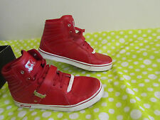 Men Vlado Leather Supra SB Atlas II Red White Hi-Top Sneaker Trainers Shoes