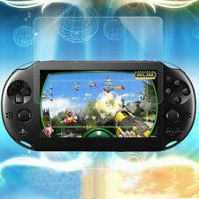 Front Screen Tempered Glass & Rear Plastic Guard Film Protector for PS Vita 2000