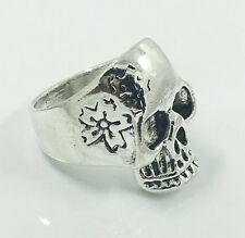 HOT Men's Woman 316L Stainless Steel Vogue Design Mini Skull Ring Size 8