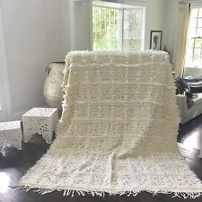 New Style Moroccan Wedding Blanket, Handmade Handira with Sequins
