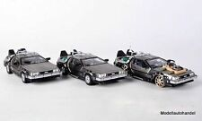 DMC-12 DE LOREAN 3er SET Back to the Future  1:43 Vitesse