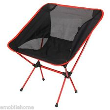 Portable Lightweight Folding Chair Beach Seat for Hiking Fishing Picnic Red