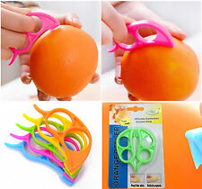 4pc Fruit Orange Opener Peeler Remover Peel Slicer Citrus Cutter Skin Knife UK