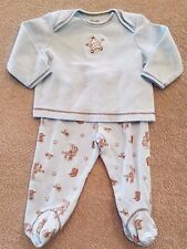 ADORABLE! LITTLE ME 6 MONTH BLUE SHERIFF COWBOY 2PC FOOTED OUTFIT