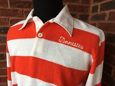 Vtg 70s 80s Tennessee Volunteers Striped Sweater Pointy Collar Script SEC NCAA
