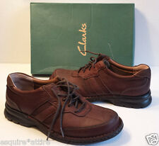 Clarks men casual shoes brown leather size 8.5 M new in box