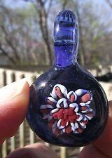 The DESERT WREATHED Hand Blown Handmade Lampwork Glass Pendant Focal Bead USA