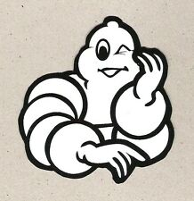 Bib Bibendum Michelin Man Winking Sticker, Vintage Sports Car Racing Decal