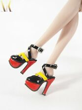 SK02 Red & Yellow High Heels Shoes for Fashion Royalty, DG, Momoko, Barbie